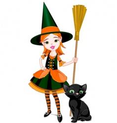 cartoon Halloween witch vector image vector image