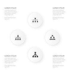 icon cabinet set of structure team framework and vector image