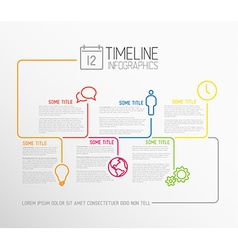 Infographic timeline report template with lines vector