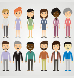set of images of people vector image