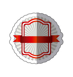 Sticker radial background with red rectangle vector