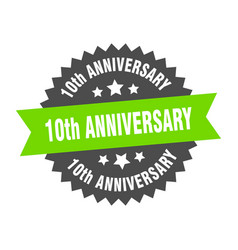 10th anniversary sign 10th anniversary vector