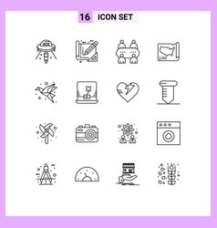16 user interface outline pack modern signs vector