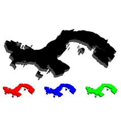 3d map of panama vector