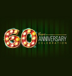 60 years anniversary banner sixty vector image