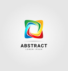 abstract colorful star looping logo sign symbol vector image