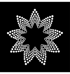 Abstract dotted shape vector image