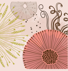 abstract floral magical pattern flowers trendy vector image