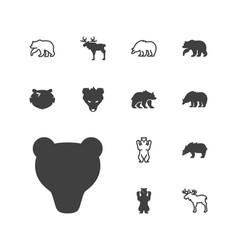 Alaska icons vector