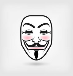 Anonymous mask on white background vector