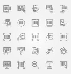 Barcode icons set - barcodes concept vector