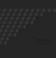 black dark abstract background square 3d modern vector image