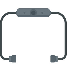 bluetooth earbuds icon flat isolated vector image