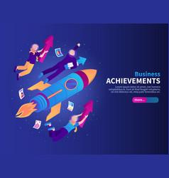 business achievements color background vector image