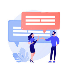 Business discussion concept metaphor vector