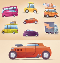 Cartoon Cars Set vector image