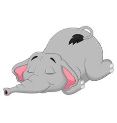 Cartoon elephant sleeping vector image