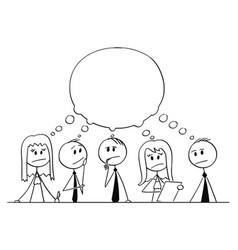cartoon of team of businessmen during vector image
