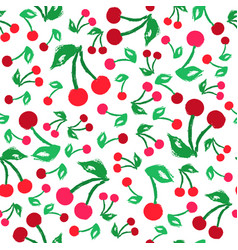 cherry background painted pattern vector image