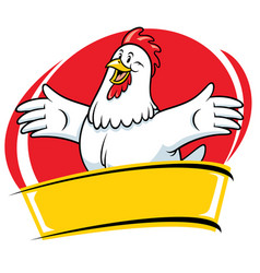Chicken cartoon mascot style character vector