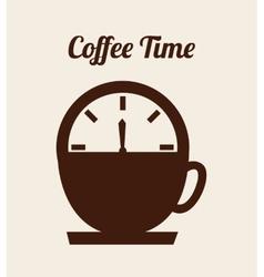 Coffee time design vector
