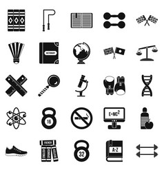College icons set simple style vector