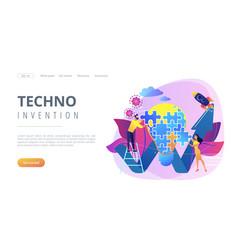 Creative idea concept landing page vector