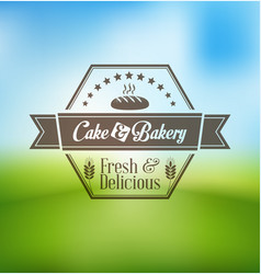 cupcake and bakery logo design vector image