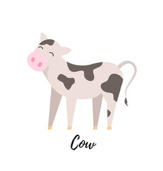 cute cow kid isolated domestic calf vector image