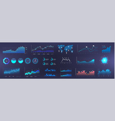 dashboard infographic template vector image