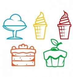 Dessert food vector