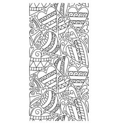 doodle hearts seamless border Zentangle vector image