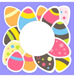 Easter eggs pattern on a purple vector