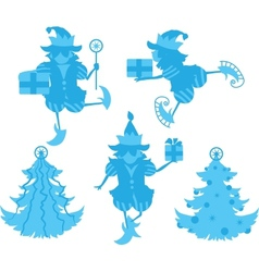 Elves Silhouettes vector image