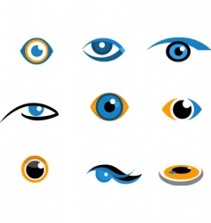 eye icons and logos vector image