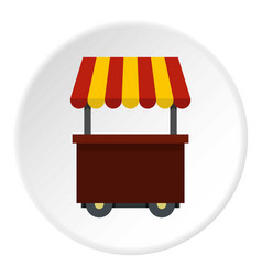 Fast food cart icon circle vector