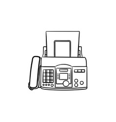 fax machine hand drawn outline doodle icon vector image