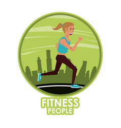 fitness woman running vector image