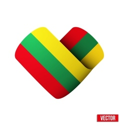Flag icon in the form of heart I love Lithuania vector