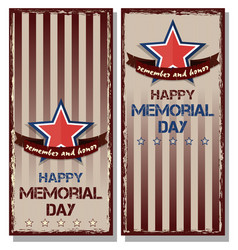 flyer set for memorial day vector image