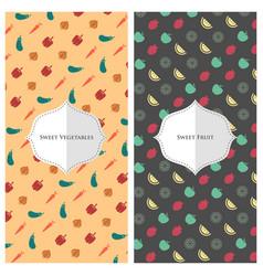 fruit vegetable wallpaper vector image