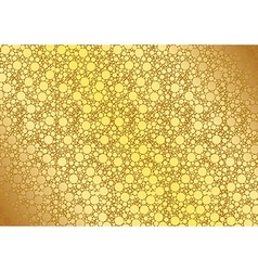 Golden dotted background vector