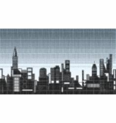 halftone skyline vector image