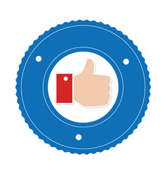 Hand like isolated icon vector