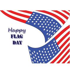 Happy flag day 5 vector