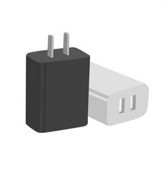 Home charger flat design icon vector