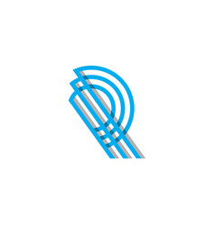 Initial monogram r logo template and inspiration vector