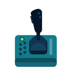joystick videogame related icon image vector image