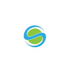 Letter s logo design template vector