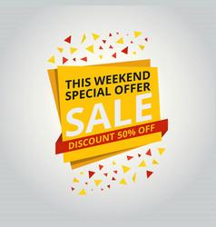 limited offer mega sale banner sale poster big vector image
